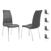 Lot 6 chaises chromé gris DEA.1