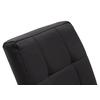 Lot 6 chaises chromé noir DEA.3