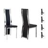 Lot 6 chaises chromé noir DIA.1
