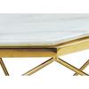 Table basse octogonale doré marbre LOÉ.1