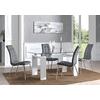 Table laqué blanc 6 chaises gris TOE