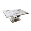 Table manger chromé marbre blanc NEA