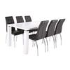 Table manger laqué blanc 6 chaises UGO
