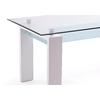 Table repas laqué blanc verre TOE.1