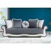 canapé-lit-coffre-velours-gris-blanc-barok