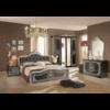 chambre-alice-capitonné-noir-argent