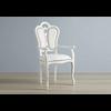 chaise-cuir-accoudoire-greta-blanc