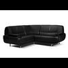 Canapés angle design cuir noir CLOE.1