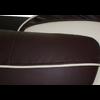 Canapés design 3+2 cuir choco CLOE.