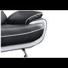 Canapés design 3+2 cuir noir blanc CLOE.