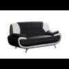 Canapés design 3+2 cuir noir blanc CLOE.2