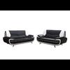 Canapés design 3+2 cuir noir blanc CLOE