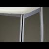 Lot de 4 chaises chromé cuir blanc BEA.5