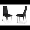 Lot de 4 chaises design noir FLY.2