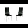 Lot de 4 chaises design noir TERA