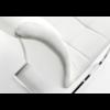 Lot de chaises chromé capitonné cuir blanc SIA.3