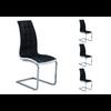 Lot de chaises chromé capitonné cuir noir blanc SIA.1