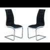Lot de chaises chromé capitonné cuir noir blanc SIA
