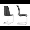 Lot de chaises chromé capitonné cuir noir SIA.1