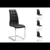 Lot de chaises chromé capitonné cuir noir SIA.4
