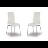 Lot de chaises chromé cuir blanc DEA.2
