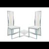 Lot de chaises chromé cuir blanc DIA