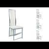 Lot de chaises chromé cuir blanc DIA.1