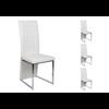 Lot de chaises chromé cuir blanc ERA
