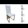 Lot de chaises chromé cuir blanc SYM.1