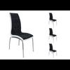 Lot de chaises chromé cuir noir blanc DEA.1