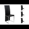 Lot de chaises chromé cuir noir ERA