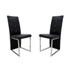 Lot de chaises chromé cuir noir SYM