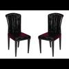 Lot de chaises laqué cuir croco noir SLY.1