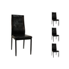 Lot de chaises simili cuir noir INA