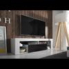 Meuble Tv laqué blanc noir LED OVER