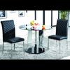 Table à manger ronde verre chromé REX