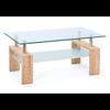 Table basse chêne verre trempé TOE.1