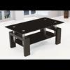 Table basse laqué noir verre trempé noir TOE.1