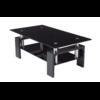 Table basse laqué noir verre trempé noir TOE