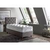 Lit coffre + tête de lit + matelas 90x190 PRINCE-KARYA Taupe