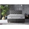 Lit coffre + tête de lit + matelas 160x200 PRINCE-KARYA Gris
