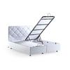 Lit coffre tête de lit capitonnée blanc siena.1