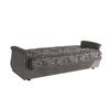 Canapé lit coffre oriental gris BUKET.3