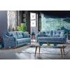 Canapé lit tissu bleu ÉROS-1