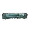 Canapé lit angle tissu vert ÉROS-2