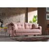 Canapé lit tissu rose ÉROS