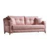 Canapé lit tissu rose ÉROS-2