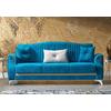 Canapé lit tissu daim bleu VALS-2