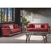 Canapé lit tissu daim rouge DECO-1