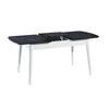 Table + chaise blanc marbré ERVA-2